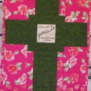 Gratitude for Sisters Prayer Quilt Wall Hanging