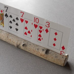 Playing Cards Holder for Children Natural Wooden Birch