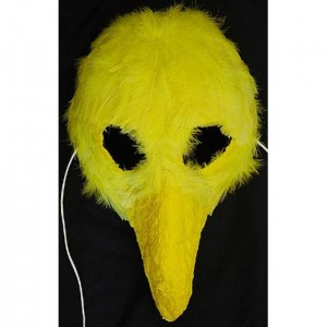 Yellow Bird Papier Mache Mask by Anthony Saldivar - Handmade