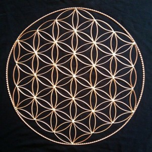 "15"" Flower of Life in copper"