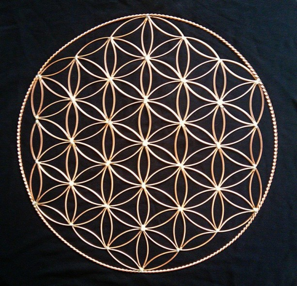 """15"""" Flower of Life in copper"""
