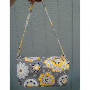 Super Large Size Coupon Organizer / Budget Organizer Holder Box - Attaches to Your Shopping Cart -  Sunshine Floral on Gray