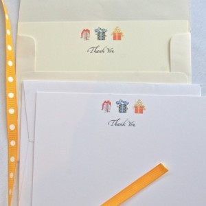 THANK YOU NOTE. Custom Stationery. 25 Thank you notes. Children's notes. Personalized card set and envelopes. Birthday present.