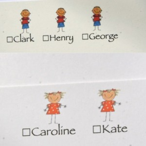 FAMILY NOTES. Custom stationery. Childrens logos. Personalized stationery sets. Note cards. 50
