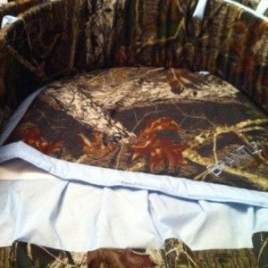 SPECIAL*****Camo**** 3 piece crib set-***SALE*****Custom made to order- you choose your camo pattern