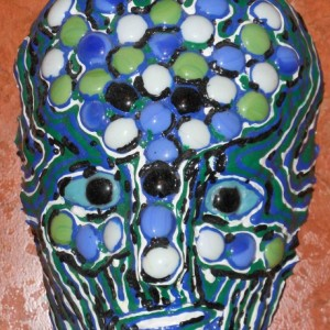 Tree of Life Mask with Glass Stones by Anthony Saldivar - One of a kind