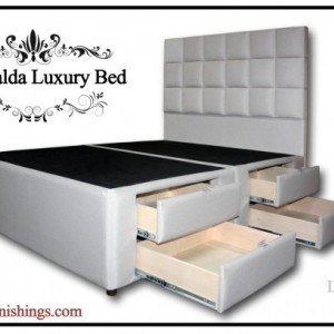 ESMERALDA LUXURY BED - King Platform Storage Bed, Bed Frame, Headboard, Bed with Drawers, Queen Bed Frame, Hidden Drawers