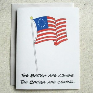 Party Invitations The British are Coming 10 Pack