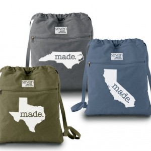 All States Made. Canvas Backpack Cinch Sack    Choose ANY State