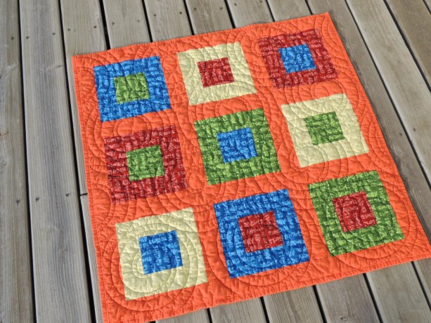 Quilt For Baby Boy Primary Colors Red Yellow Blue Green