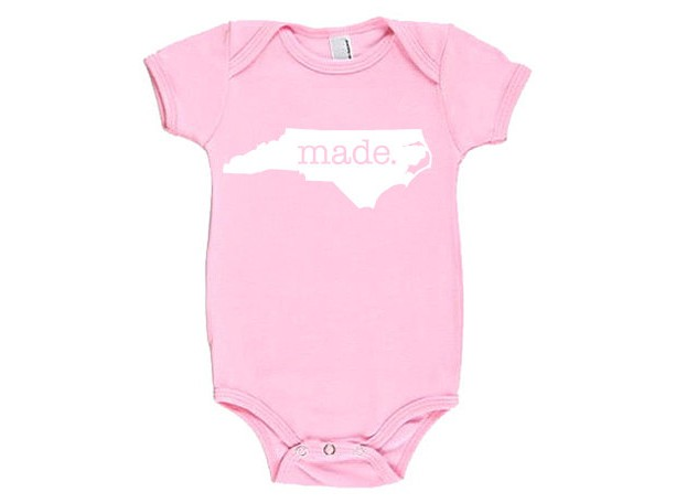 North Carolina 'Made.' Cotton One Piece Bodysuit - Infant Girl and Boy