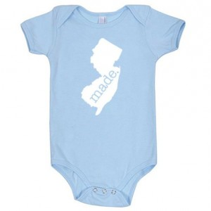 New Jersey 'Made.' Cotton One Piece Bodysuit - Infant Girl and Boy