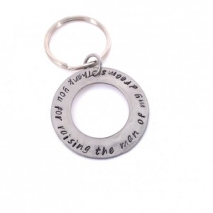 Thank you for raising the man of my dreams Hand Stamped Washer Keychain