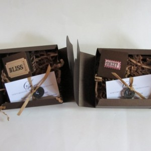 Sentimental Expressions Food/Chocolate Boxes- 10 quotes and sayings on individual cards, elegantly wrapped in a beautiful designed package