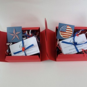 Sentimental Expressions Military Support Boxes- 10 quotes and sayings on individual cards, elegantly wrapped in a beautiful designed package