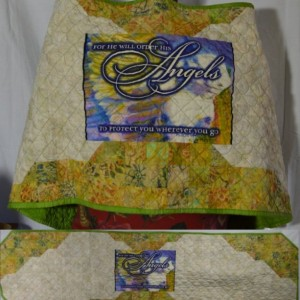 Protective Angels Quilted Angel Wings Prayer Shawl