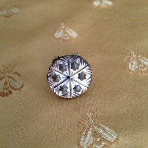 Downton Abbey ring made with a turn of the century button. Provincial style.