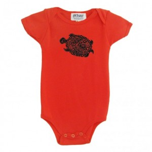 Organic Turtle Baby Onesie Salmon Cotton American Apparel Onepiece Bodysuit New Baby Shower Giift