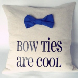 Doctor Who Pillow Throw Bow Ties are Cool