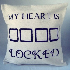 Sherlock Pillow Throw My Heart is Sherlocked