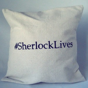 Sherlock Pillow Throw Sherlock Lives Hashtag Sham