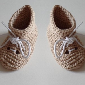 Newborn Gift. Summer Baby Booties. Ages 3-9 Month. Hand Knitted.100 % Bamboo yarn.