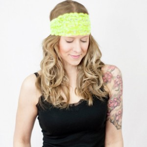 Neon Yellow Lace Headband