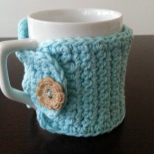 Aqua Blue Coffee Mug Cozy
