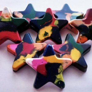 Multi Color Star Crayons set of 10
