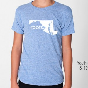 All States 'Roots'  or 'Made' Tri Blend Toddler, Kids, Youth Track T-Shirt - Sizes 2, 4, 6, 8, 10, 12