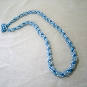Hand Woven Necklace in Blues