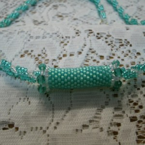 """Handwoven spiral rope necklace with slider """"Savannah"""""""