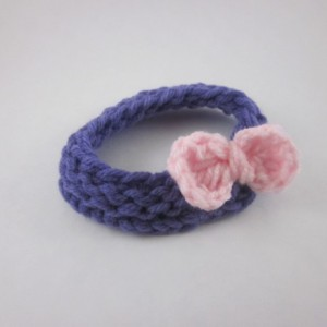 Knitted Baby Headband with Bow