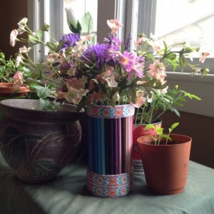 Colored Pencil Vase