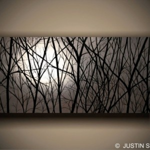 """""""MOONLIGHT"""" READY TO HANG LARGE GICLEE PRINT ON CANVAS GALLERY WRAPPED PAINTING"""