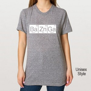 BaZnGa Periodic Table Tri Blend Track T-Shirt - Unisex & Juniors  Bazinga Tee Shirts Size S M L XL