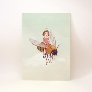 The Little Queen - Girl and Bee Print