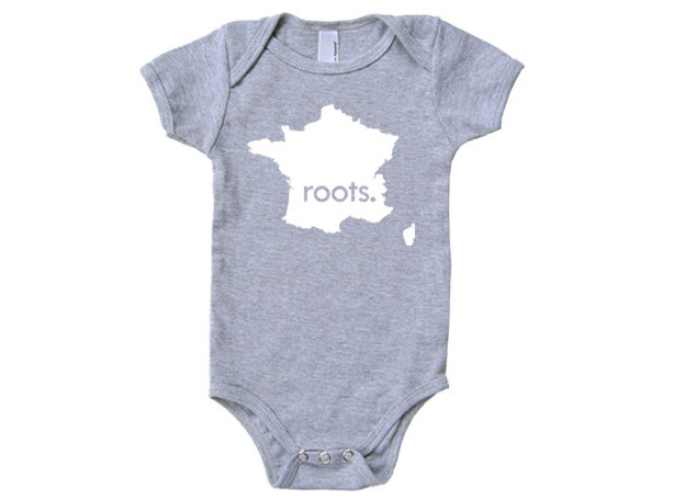 France 'Roots.' Cotton One Piece Bodysuit - Infant Girl and Boy