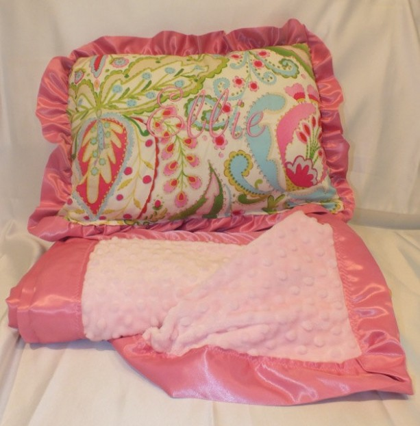 Personalized Pillow and Blanket