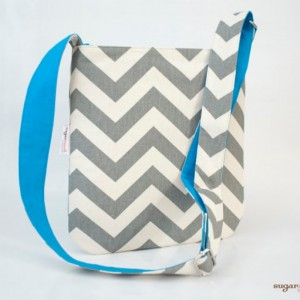 Gray Chevron Concealed Zipper Sling