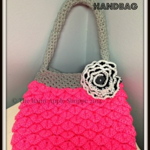 hot pink purse, crocodile stitch purse, mermaid tears purse, handmade bags, bags and purses, accessories, crochet bags, pink bag,fully lined