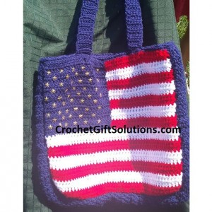 American Flag Tote Bag - Made to Order