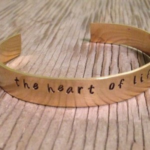 custom brass bracelet hand stamped with words of your choice personalized jewelry cuff bracelet