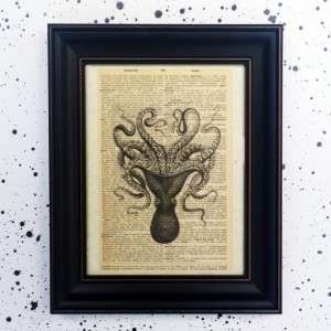 Octopus Dictionary Page Print