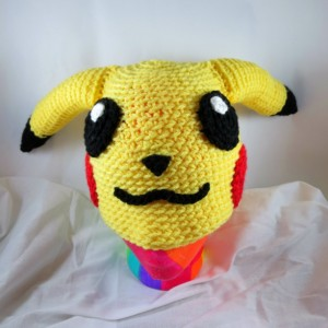 Crocheted Pikachu Inspired Hat