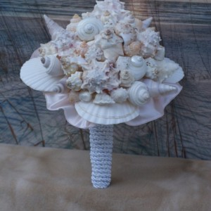 The Blushing Beach Bride Bouquet, A Seashell Bouquet, Bridal Bouquet, Beach Bouquet, Tropical Bouquet, Destination ,Seaside , Made to Order