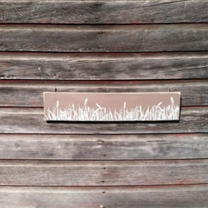 Cattails prairie hand painted wall art on reclaimed wood