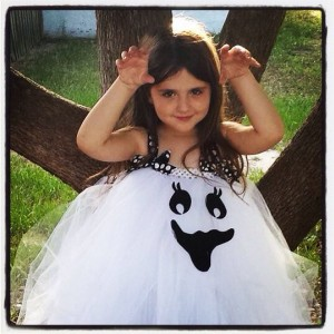 2t or 3t Happy Ghost tutu dress