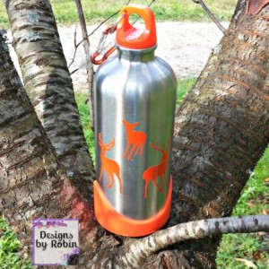 hunting canteen - buck canteen - deer canteen - aluminum canteen - hunter orange- Christmas stocking stuffer