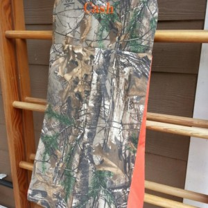 Camo diaper stacker- embroidered and custom made